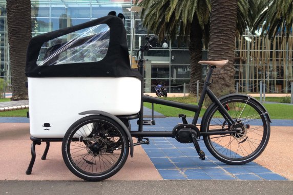 Butchers & Bicycles tilting cargo tricycle.
